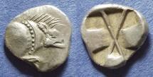 Ancient Coins - Lycia, Uncertain dynast 530-480 BC, Diobol