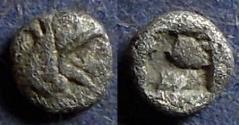 Ancient Coins - Ionia, Teos 478-449 BC, Hemitetartemorion