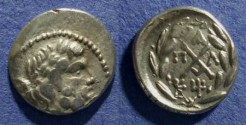 Ancient Coins - Achaian League, Pallantion Arkadia 88-30 BC, Hemidrachm