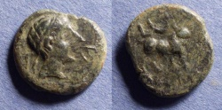 Ancient Coins - Spain, Castulo Circa 50 BC, AE18