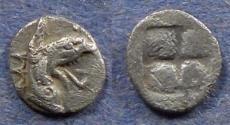Ancient Coins - Ionia, Teos Circa 480 BC, Tetartemorion