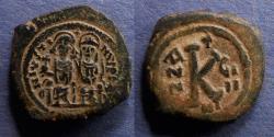 Ancient Coins - Byzantine Empire, Justin II 565-578, Follis