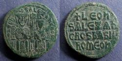 Ancient Coins - Byzantine Empire, Leo VI with Alexander 886-912, Follis