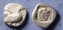 Ancient Coins - Macedonia, Dikaia 480-450 BC, Trihemiobol