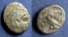 Ancient Coins - Macedonian Kingdom, Amyntas III 393-369 BC, Diobol