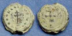 Ancient Coins - Byzantine Emipre, 19mm Circa 900 AD, Seal