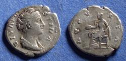 Ancient Coins - Roman Empire, Diva Faustina Sr d.141, Silver Denarius