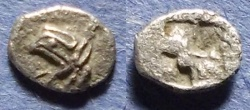 Ancient Coins - Ionia, Teos 525-478 BC, Tetartemorion