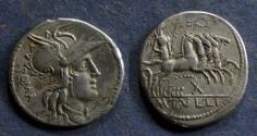 Ancient Coins - Roman Republic, M Tullius 120 BC, Denarius
