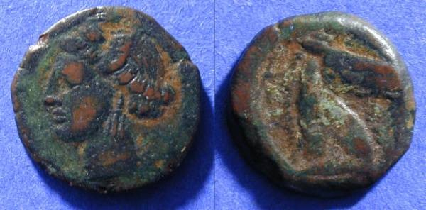 Ancient Coins - Carthage Zeugitana - AE19 - Circa 230BC