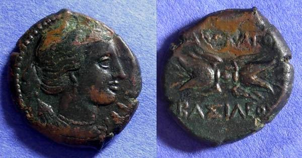 Ancient Coins - Syracuse Sicily - Agathocles 317-289BC AE-21