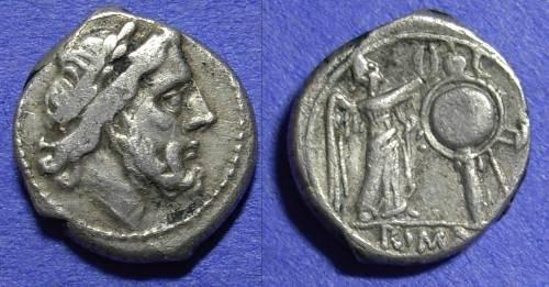 Ancient Coins - Roman Republic - Victoriatus Circa 200BC