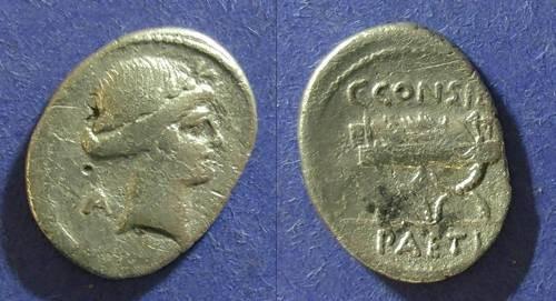 Ancient Coins - Roman Republic, C Considius Paetus 46 BC, Denarius