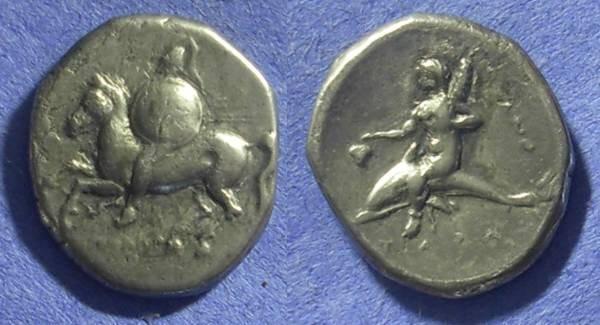 Ancient Coins - Taras Calabria Nomos 281-272BC