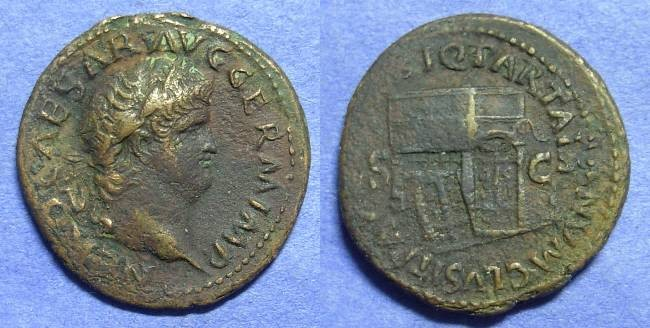 Ancient Coins - Nero 54-68AD Aes