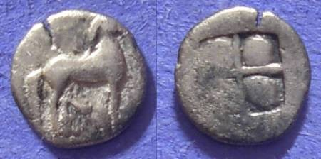Ancient Coins - Macedonian Kingdom: Alexander I 495-454 BC – Obol