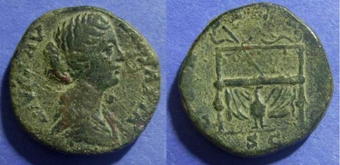 Ancient Coins - Roman Empire, Faustina Jr d.175 AD, Sestertius