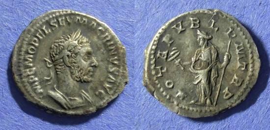 Ancient Coins - Roman Empire, Macrianus 217-8 AD, Denarius