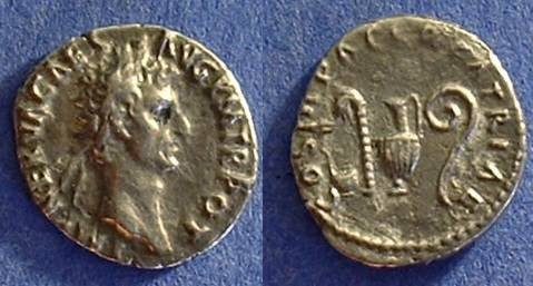 Ancient Coins - Nerva 96-8 AD  Denarius with sacraficial implements