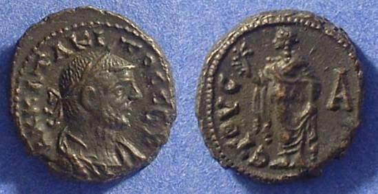 Ancient Coins - Roman Egypt - Tacitus 275/6 AD - Potin Tetradrachm