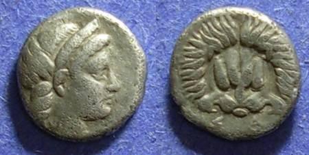Ancient Coins - Samos, Ionia 394-365, Trihemiobol