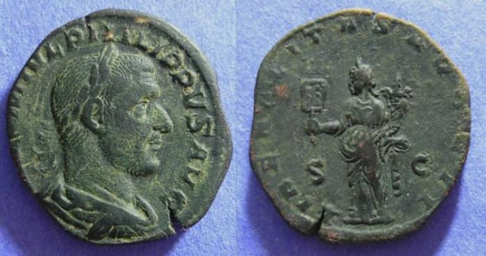 Ancient Coins - Philip I 244-9AD Sestertius