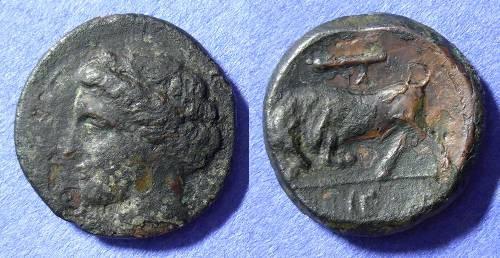 Ancient Coins - Syracuse Sicily - Hieron II 275-215BC - AE20
