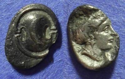 Ancient Coins - Thespiae Boeotia – Obol  387-374BC