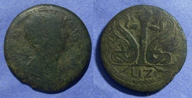 Ancient Coins - Roman Egypt – Trajan 98-117 Drachm - rare type