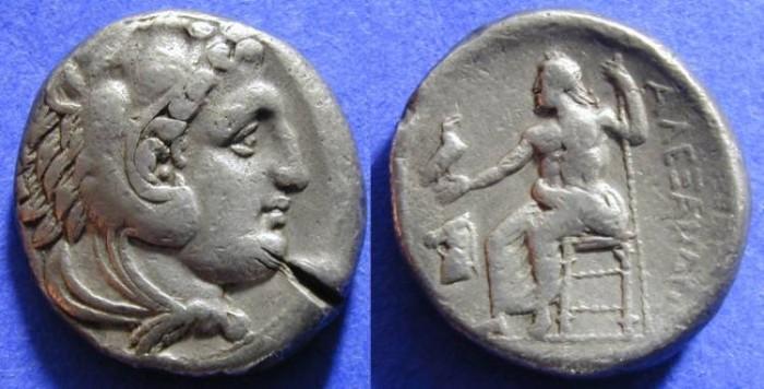 Ancient Coins - Macedonian Kingdom - Alexander III (the Great) - Lifetime Tetradrachm