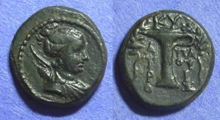 Ancient Coins - Kyme Aiolis AE16 – Circa 150BC