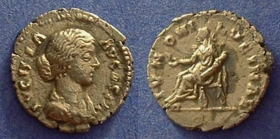 Ancient Coins - Lucilla (wife of L. Verus 161-69)  Denarius