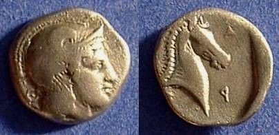 Ancient Coins - Pharsalos Thessaly - Hemidrachm Circa 400 BC