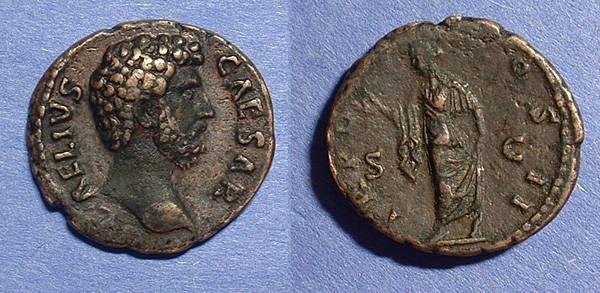 Ancient Coins - Aelius Caesar 136-138 AD (under Hadrian)  AE Aes