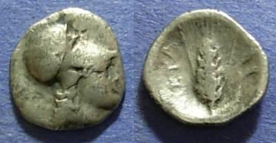 Ancient Coins - Lucania, Metaponton 325-275 BC, Diobol