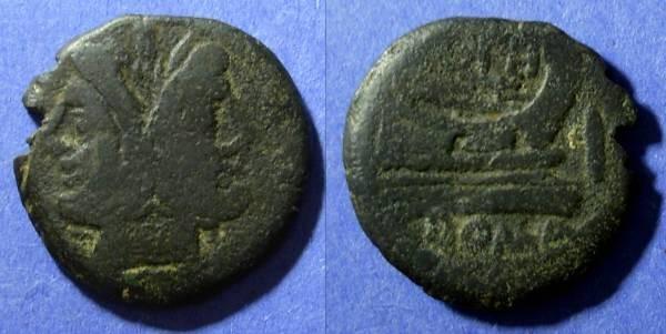 Ancient Coins - Roman Republic,  Circa 150 BC, As