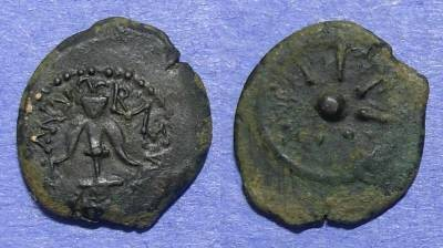 Ancient Coins - Judaea, Alexander Jannaeus 103-76 BC, Prutah