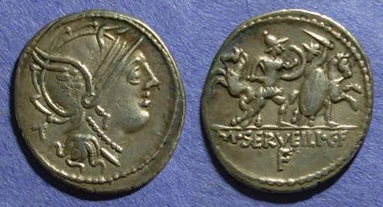 Ancient Coins - Roman Republic, M Servilius 100 BC, Denarius
