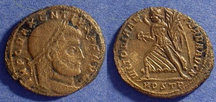 Ancient Coins - Maxentius - 306-312AD Follis of Ostia
