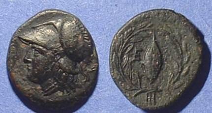 Ancient Coins - Elaea Aiolis AE16  350-300 BC