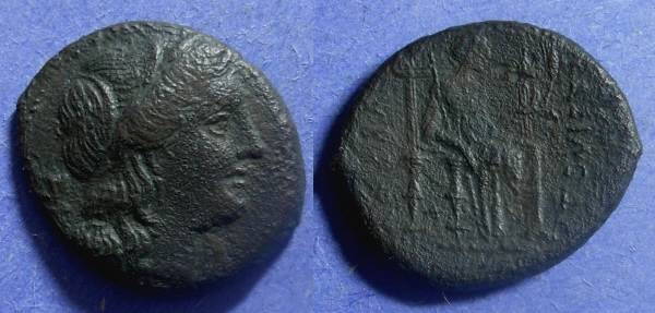 Ancient Coins - Syracuse Sicily, Pyrrhus 278-6, AE22