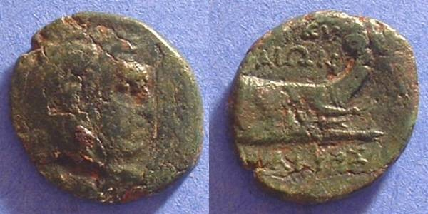 Ancient Coins - Korkyra (under Roman Rule) - AE22 - 229-48 BC