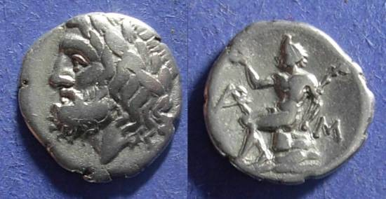 Ancient Coins - Arkadian League, Megalopolis 320-275 BC, Hemidrachm