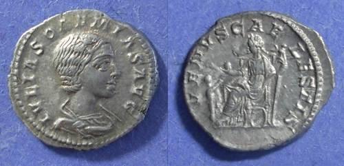 Ancient Coins - Roman Empire, Julia Soaemias 219-220, Denarius