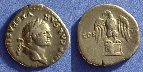 Ancient Coins - Vespasian 69-79AD - Denarius