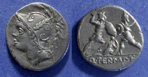 Ancient Coins - Roman Republic, Q Thermus Mf 103 BC, Denarius