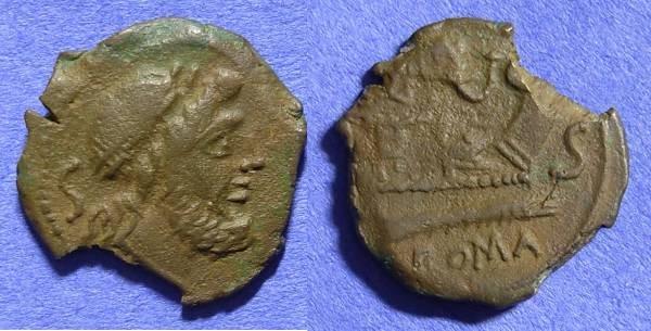 Ancient Coins - Roman Repblic - 128 BC - Semis