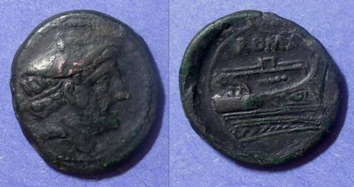 Ancient Coins - Roman Republic, Anonymous 217-215 BC, Semuncia