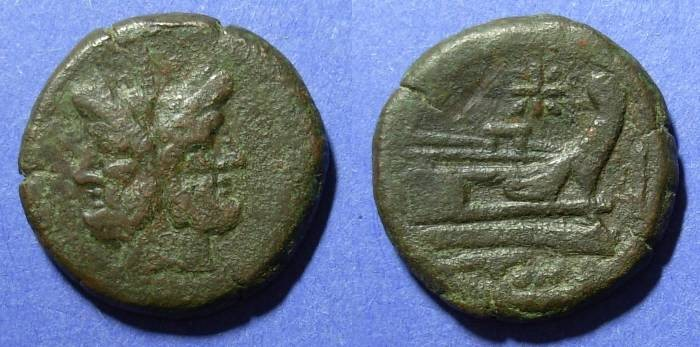 Ancient Coins - Roman Republic, Anonymous 206-195 BC, As
