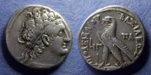 Ancient Coins - Egypt, Ptolemy X with Cleopatra III 107-101 BC, Tetradrachm